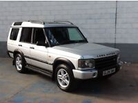LAND ROVER DISCOVERY LANDMARK 2004 2.5 TD5 AUTOMATIC SILVER WITH BLACK LEATHER 69,000 MILES