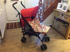 Baby pushchair for sale, good condition with cosy toes and rain hood
