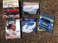 Various motor car books inc Lewis Hamilton