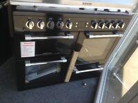 Leisure cookmaster 100cm duel fuel range. Black. £750 new/graded 12 month Gtee