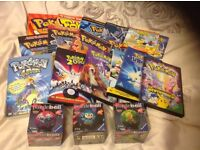 A pokermon selection,DVDs,books,new puzzle balls,very good condition.