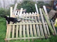 Fence Panels and Posts: originally supplied by Scatts (cat not included)