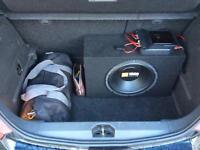 Car Sub and Amp - all wires included