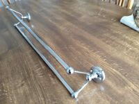 "CHROME TWIN TOWEL RAIL. 24""/600mm. Excellent condition. Bargain!!"