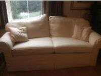 Cream double sofa bed - excellent condition
