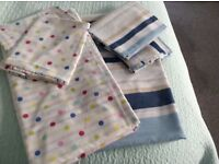 Two double duvet covers with pillow cases ex.con.£5