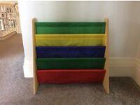 Colourful bookshelf for children's bedroom