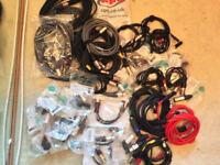 NEUTRIK XLR CABLE CONNECTOR,JACK CABLES,LOT OF XLR CONNECTOR DJ,STUDIO,-NEW-