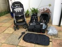 Graco Deluxe Travel System/ Pram, Pushchair, Carseat