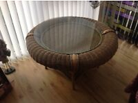 Glass top circular conservatory table