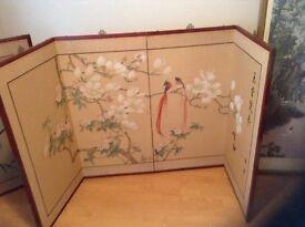 Oriental folding picture