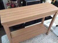 Beech effect console table, 90 x 73 x 30 cm, excellent condition - West Kirby, Wirral