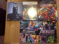 Marvel books and Arkham Origins Guide book...