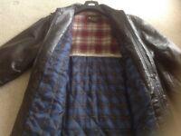 Mans leather jacket, Mans