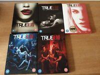 True blood dvds season's 1 2 3 4 5