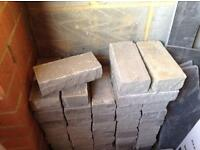 Grey rustic wall bricks