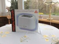 Morphy Richards 2-slice toaster, brand new, boxed and unused.