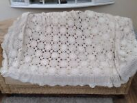 Antique Crochet Bed Cover/Throw