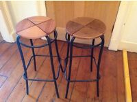 Two Bar Stools ideal for upcycling