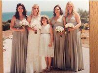 3 platinum two birds bridesmaid dresses