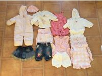 Bundle of girls clothes age 0-6 months