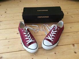 Burgundy Size 8 Converse