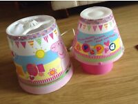 Peppa Pig matching lampshade and table lamp