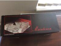 Maintenon Cristal D'Arques x6 bowls new in box