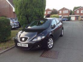 Seat Leon 2008, 1.6 petrol, full service history, excellent condition, 4 new tyres, 5 door hatchback