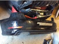 2013 ONWARDS AUDI A3 8V5 SALOON S LINE REAR BUMPER WITH DIFFUSER GENUINE