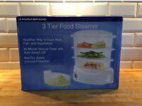 brand new in box Durabrand 3 tier food Steamer