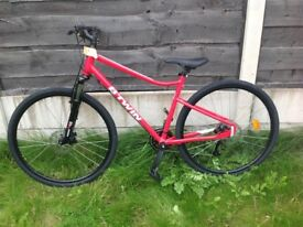 Red riverside bike B-TWIN brand new never used collection only