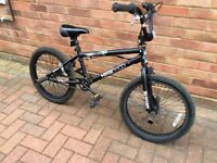 "BMX BIKE, 20"" wheels, front and rear pegs"
