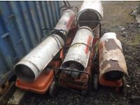 5 x Space heaters being sold as a job lot for spares. Price is OVNO for ALL 5 and NOT each !!