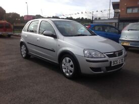 Vauxhall corsa sxi 1.2 55 plate only 58000 miles PSH one year MOT 5 door alloys silver