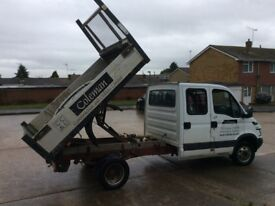 2005 IVECO DAILY 35C12 L.W.B TIPPER. 7 SEATER CREW CAB, VERY GOOD CONDITION.
