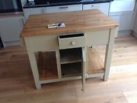 HAND MADE AND PAINTED KITCHEN ISLAND