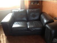 leather 3 X 2 seater sofas mocka brown