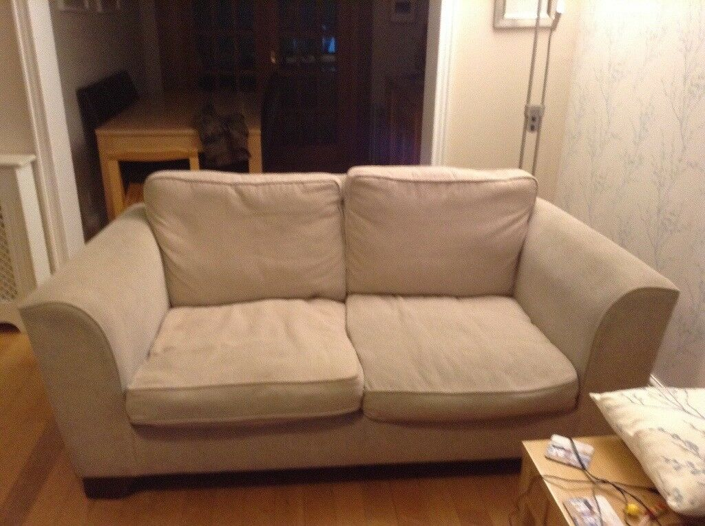 sofas one 3 seater one 2seater cream fabric few years old