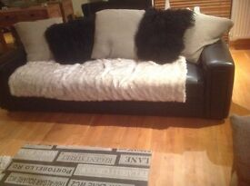Free sofa, 3 seater leather