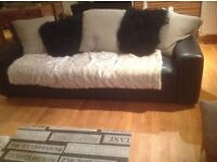 Free sofa, 3 seater leather