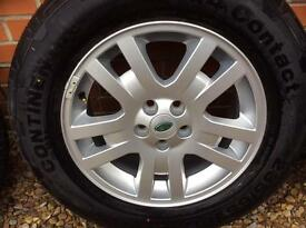 Freelander alloy wheels and tyres