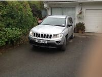 £9,995.00 Jeep Compass 2.2 CRD LIMITED 5dr Black Leather Seats 38600 mls.