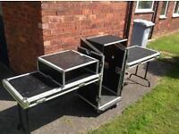 DJ flight case deck stand