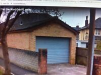 Secure Purpose Built Garage, with high roller door shutter and off road parking - Private use only