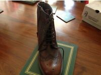 Men's Brown brogue boots size 6
