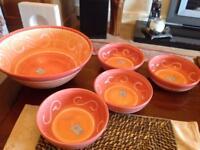 Set of kicked bowls