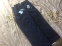 2 pairs of brand new navy blue school trousers age 7-8