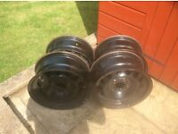 Set of four BMW Steel Rims