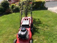 Mountfield Petrol Self-drive Lawnmower. 19inch cut Briggs&Stratton 450 series Easy starter goodgoing